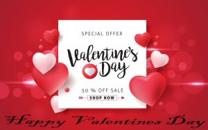 Save up to 50% through Valentine's Day